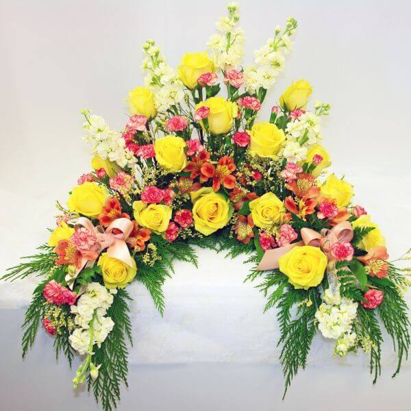Yellow and Orange Urn Arrangement