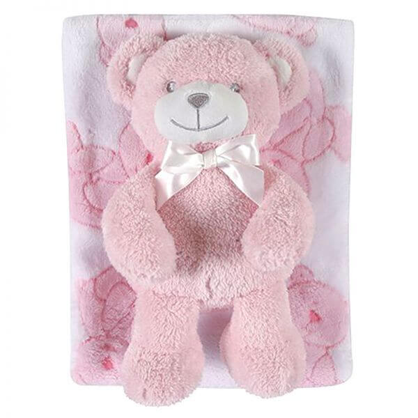 Baby Blanket and Bear [girl]