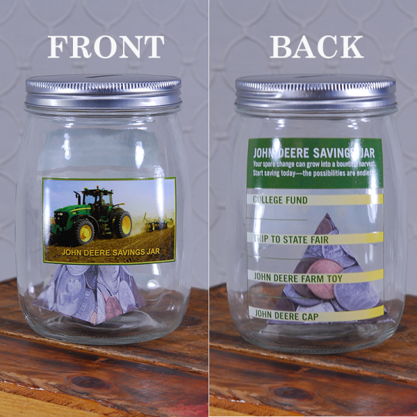 John Deere Glass Savings Jar