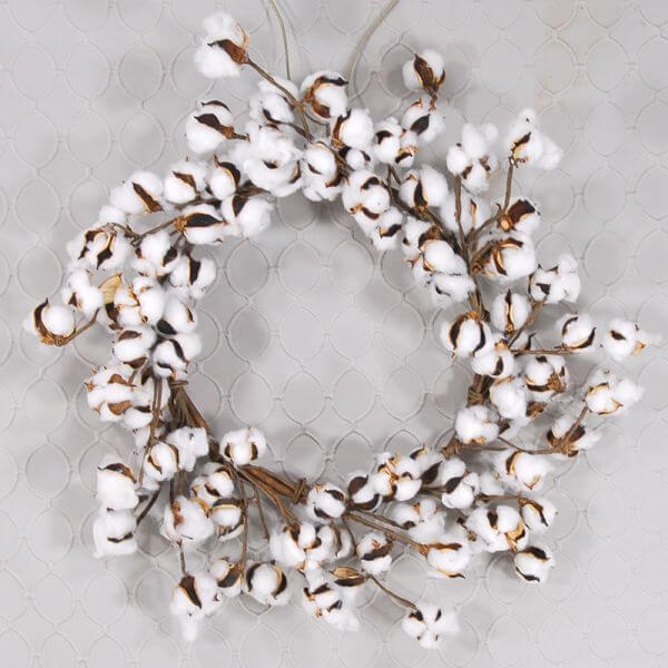 Dried Cotton Wreath