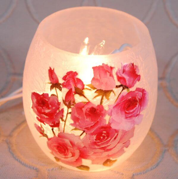 Rose Bush Votive Light