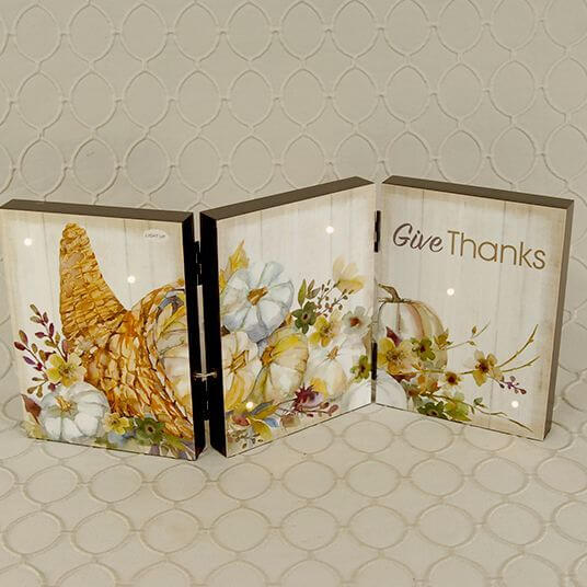 Give Thanks, Tri fold sign