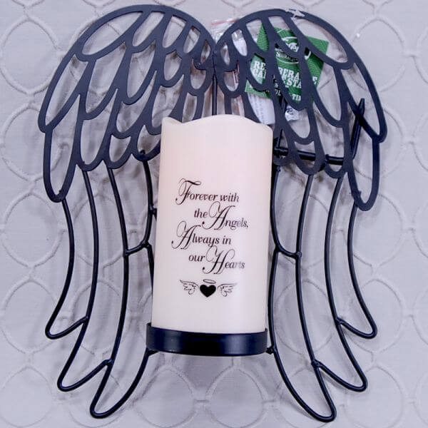 Angel Wing Ground Stake with LED candle