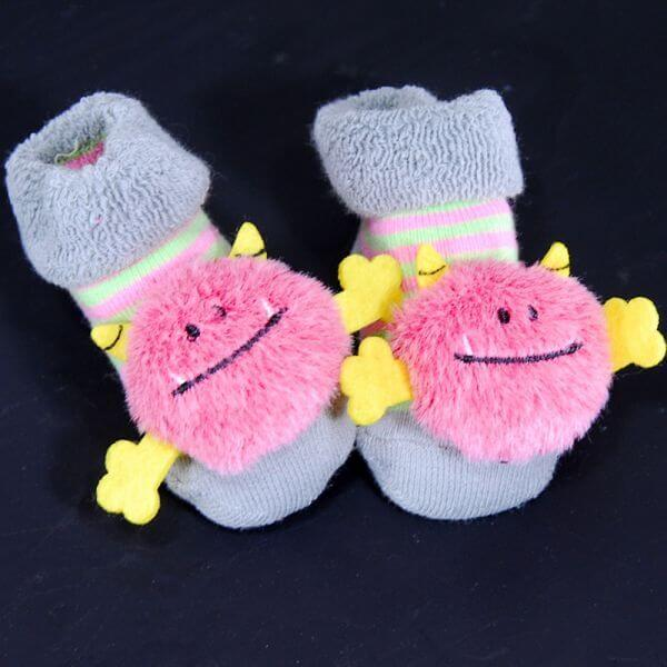Stephan Baby® Rattle Socks in Pink
