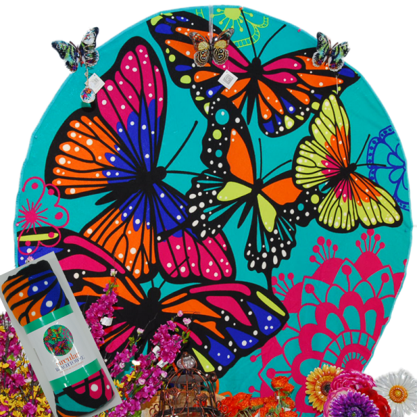 Butterfly Circular Beach Towel