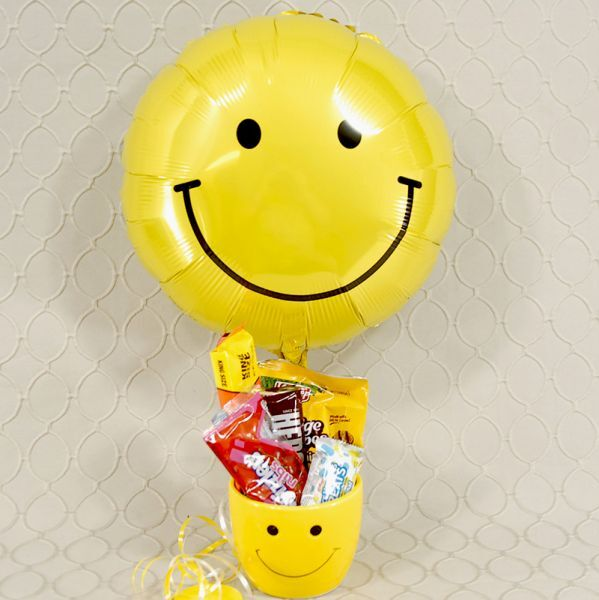 Bowl Of Smiles with smiley face balloon