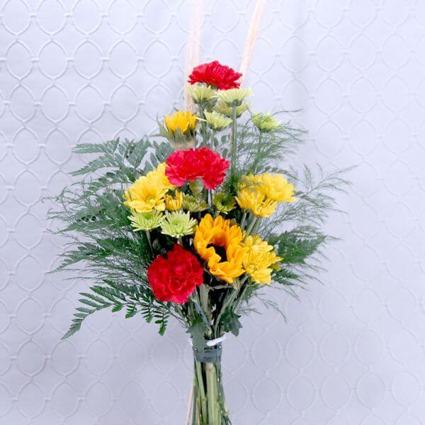 Red & Yellow Hand Tie Arrangement