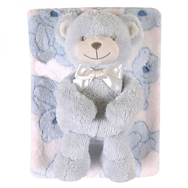 Baby Blanket and Bear [boy]