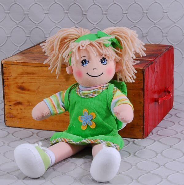 Doll in Green Dress