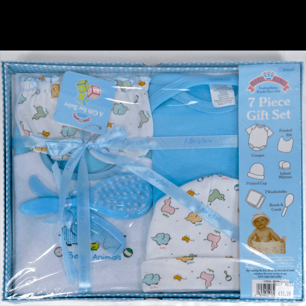 Baby King 7 Piece gift set in blue