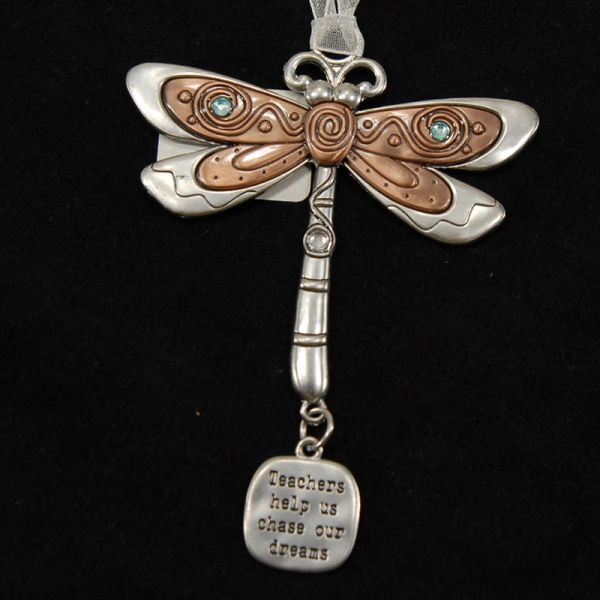 Dragonfly Teach Key Chain