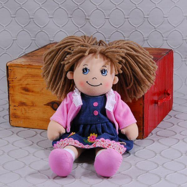 Doll in Denim and Pink