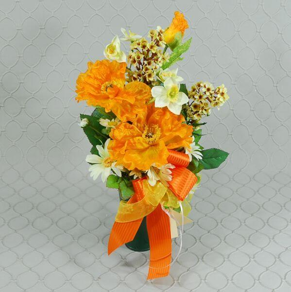Orange Memorial Silk Roberts Floral And Gifts