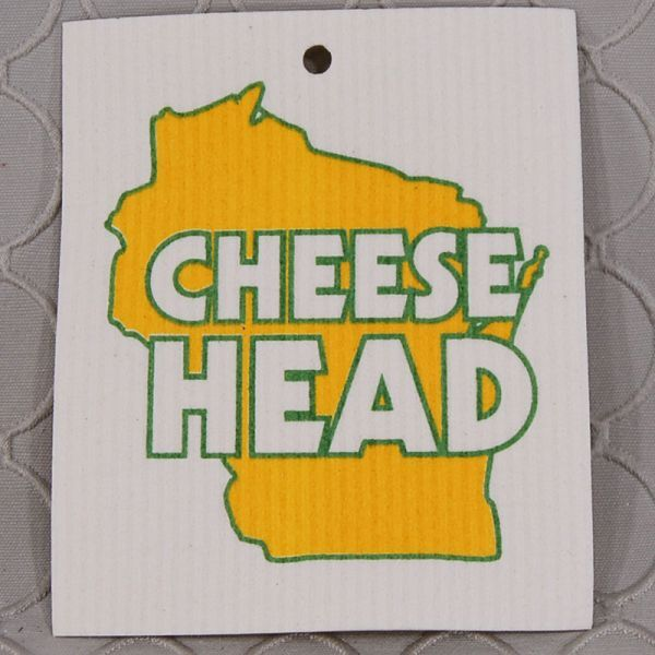 Cheese Head Packers Swedish Wash Towel