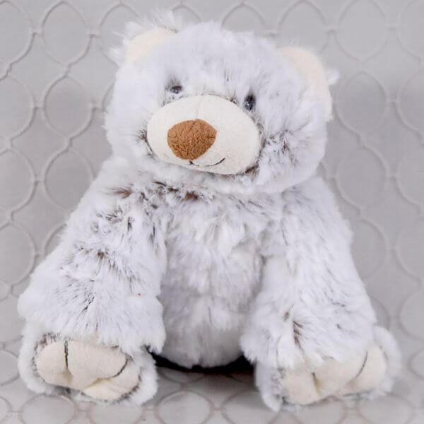 Gray & White Bear Stuffed Animal