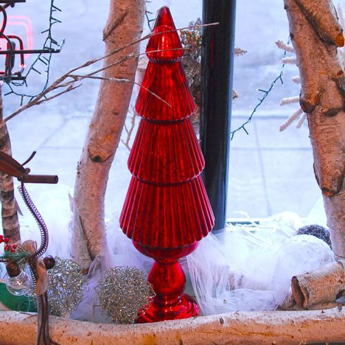 Small Red Glass Tree