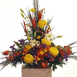 Rustic and Exotic Sympathy Arrangement